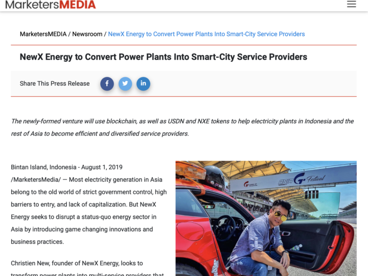 NewX Energy to Convert Power Plants Into Smart-City Service Providers