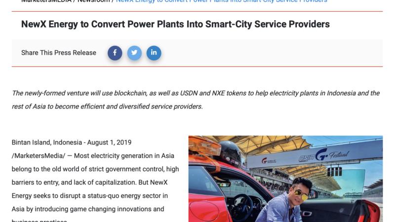 NewX Energy to Convert Power Plants Into Smart-City Service Providers