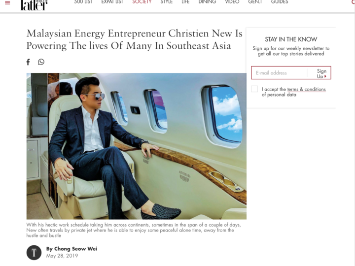 Tatler Thailand – Malaysian Energy Entrepreneur Christien New Is Powering The lives Of Many In Southeast Asia