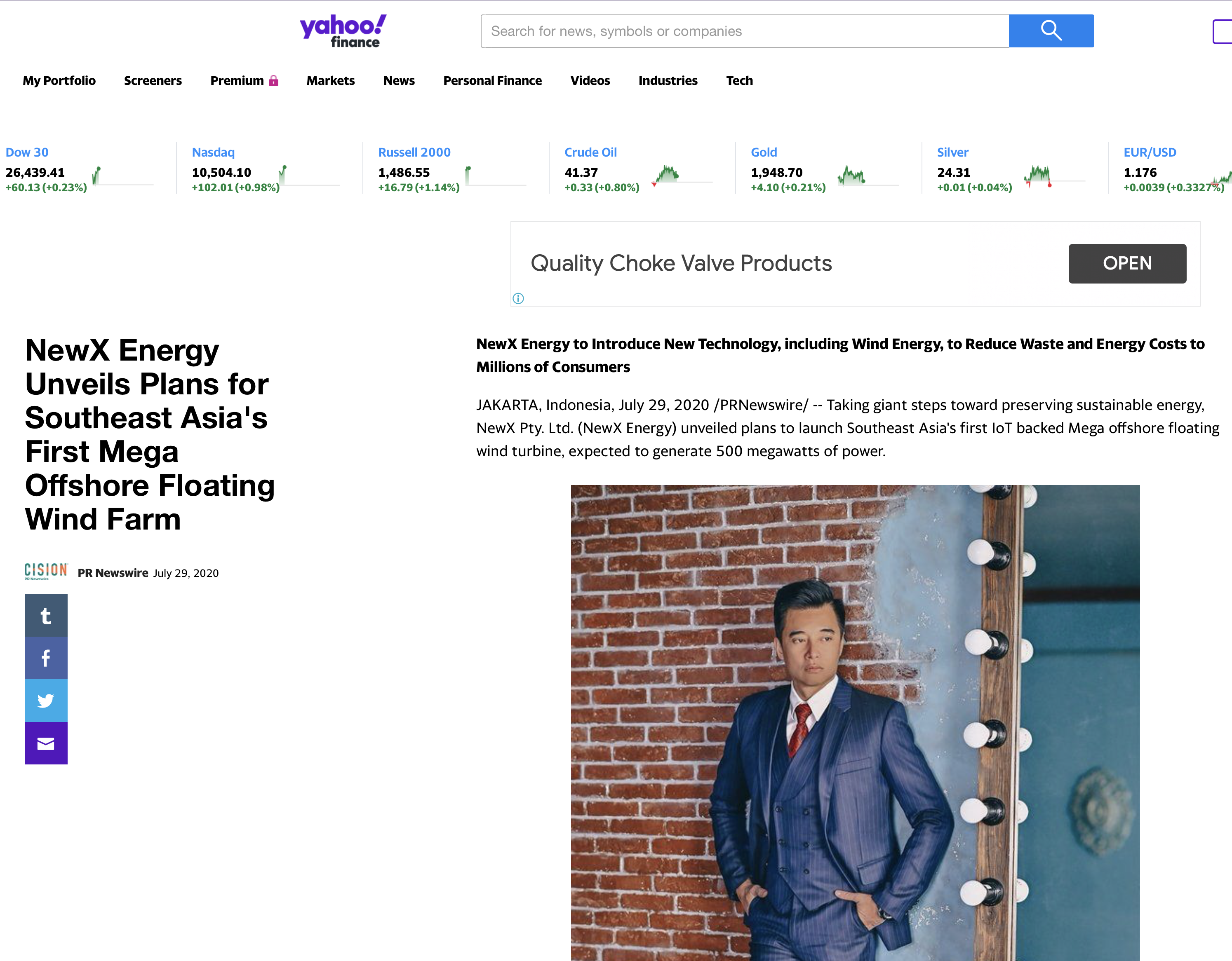 Yahoo Finance – NewX Energy Unveils Plans for Southeast Asia's First Mega Offshore Floating Wind Farm